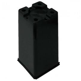 Maceta cuadrada 16x16x23,5 Negra 4L (62ud)