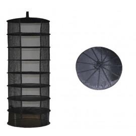 Secadero grande (Redondo, 8 pisos, 90cm) Negro
