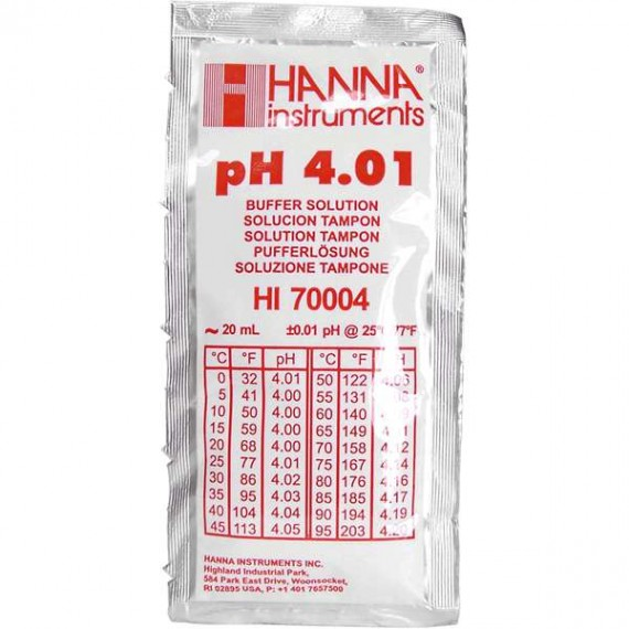 Liquido calibrador PH 4.01 20ml (25 sobres)^
