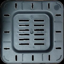 Maceta cuadrada 15x15x18 Ecomagic 3,25L Negra (60ud)