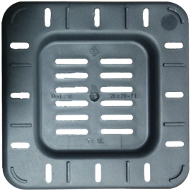 Maceta cuadrada 20x20x25,5 Ecomagic 7L Negra (50ud)